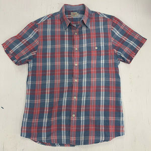Faherty Short Sleeve Casual Button-Up Shirt Size M